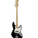 Fender 0146202506 Standard Jazz Bass, Maple Fingerboard, Black, 3-Ply Parchment Pickguard, No BaG