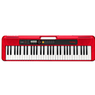 Casio CT-S200RD 61 Piano-style Keys, Red